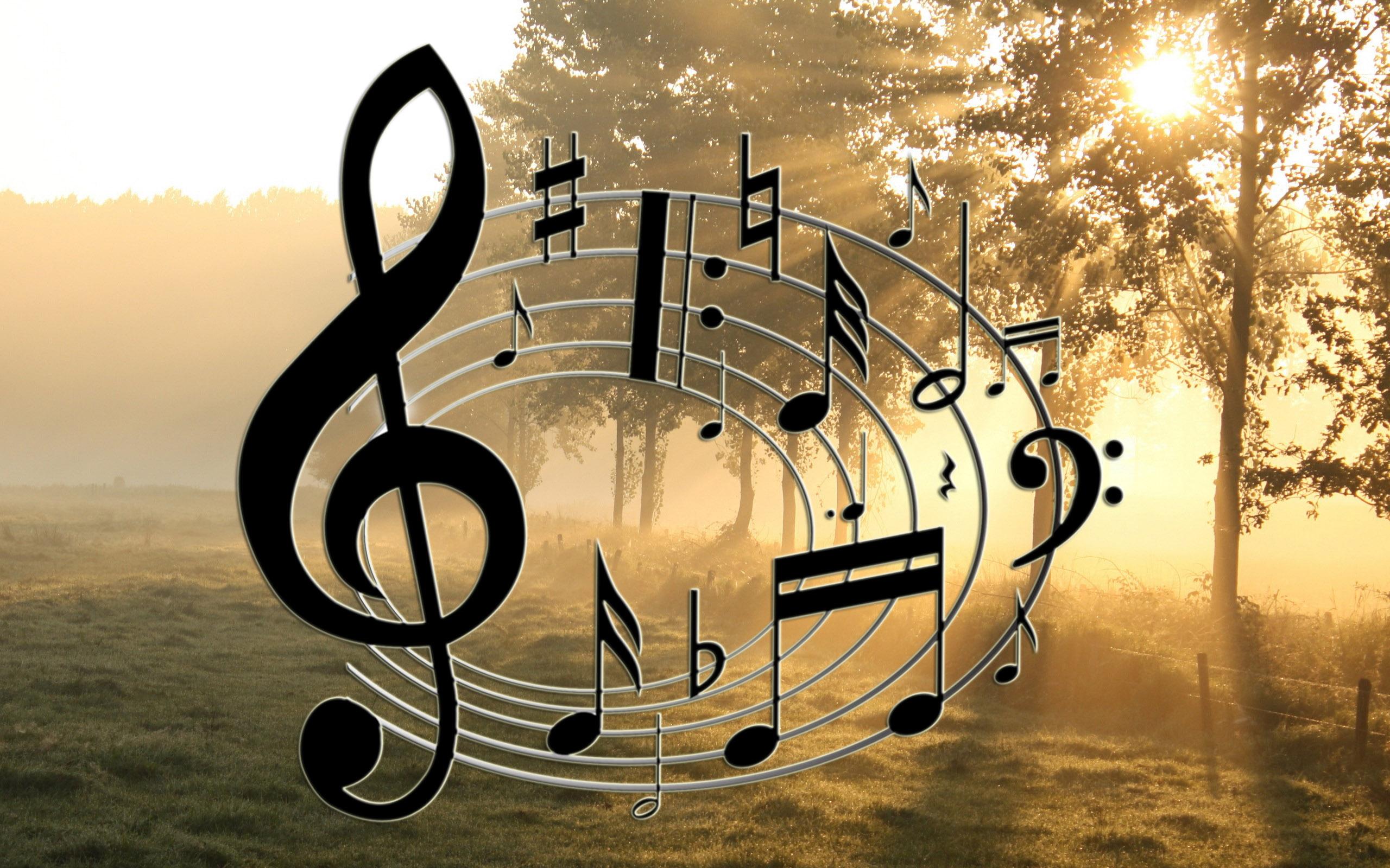 Картинка с музыкальными нотами
